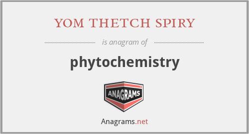 yom thetch spiry - phytochemistry