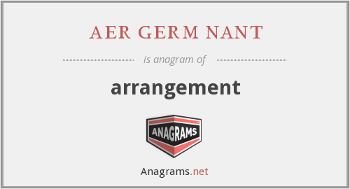 aer germ nant - arrangement