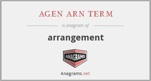 agen arn term - arrangement