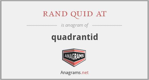 rand quid at - quadrantid