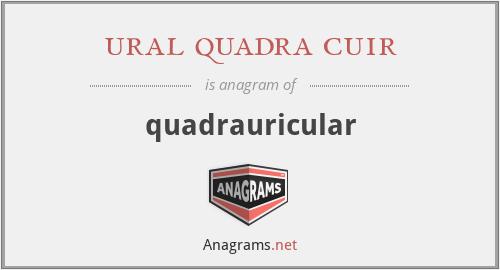 ural quadra cuir - quadrauricular