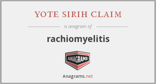 yote sirih claim - rachiomyelitis