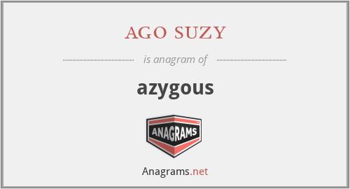ago suzy - azygous