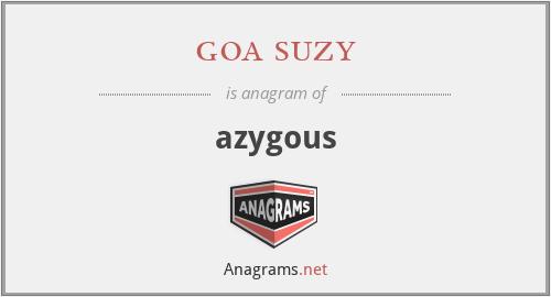 goa suzy - azygous