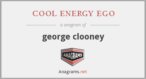 cool energy ego - george clooney