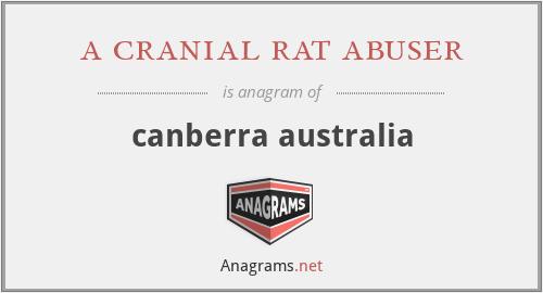 a cranial rat abuser - canberra australia