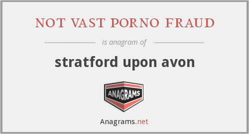not vast porno fraud - stratford upon avon