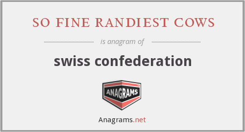 so fine randiest cows - swiss confederation