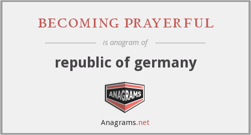 becoming prayerful - republic of germany
