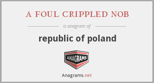 a foul crippled nob - republic of poland