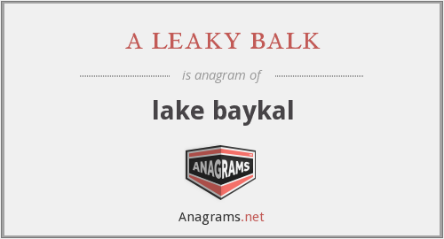 a leaky balk - lake baykal