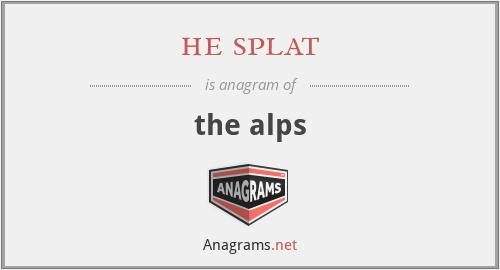 he splat - the alps