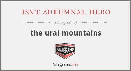 isnt autumnal hero - the ural mountains