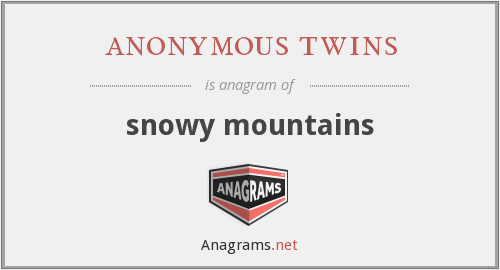anonymous twins - snowy mountains