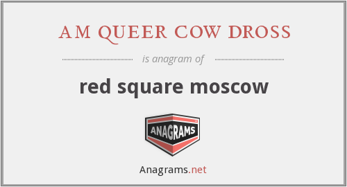 am queer cow dross - red square moscow