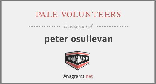 pale volunteers - peter osullevan