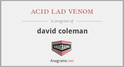 acid lad venom - david coleman