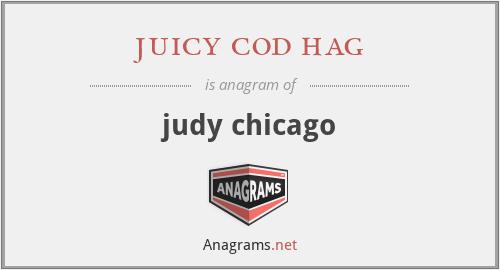 juicy cod hag - judy chicago