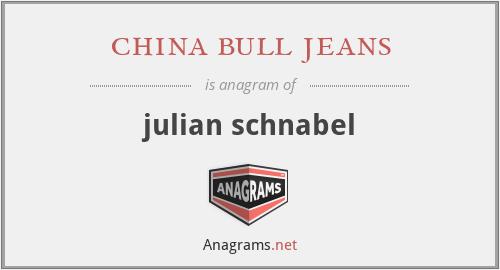 china bull jeans - julian schnabel
