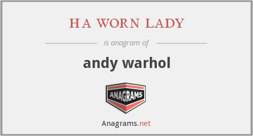 ha worn lady - andy warhol