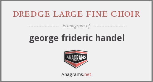 dredge large fine choir - george frideric handel