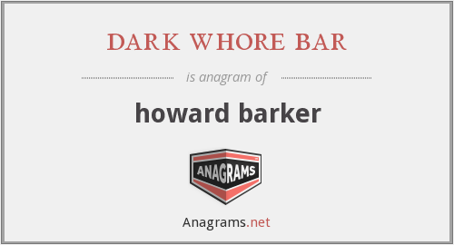 dark whore bar - howard barker