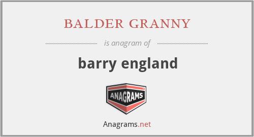 balder granny - barry england