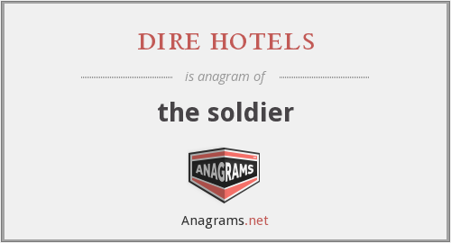 dire hotels - the soldier