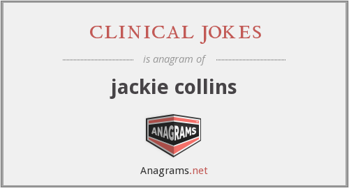 clinical jokes - jackie collins