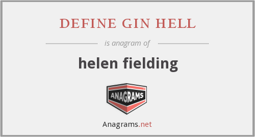 define gin hell - helen fielding