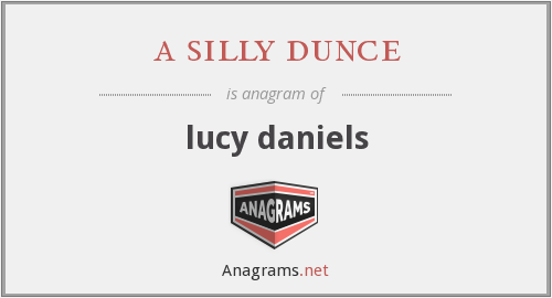 a silly dunce - lucy daniels