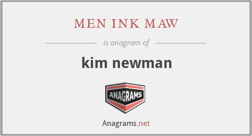 men ink maw - kim newman