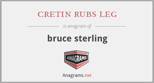 cretin rubs leg - bruce sterling