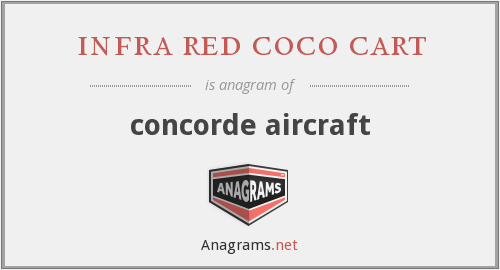 infra red coco cart - concorde aircraft