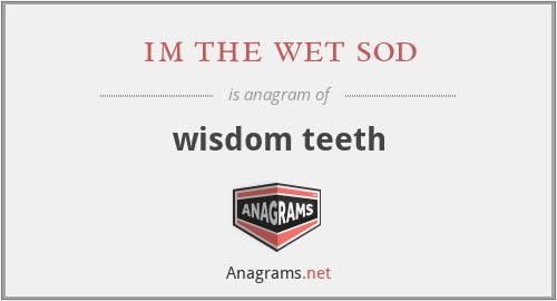 im the wet sod - wisdom teeth