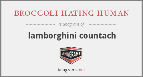 broccoli hating human - lamborghini countach