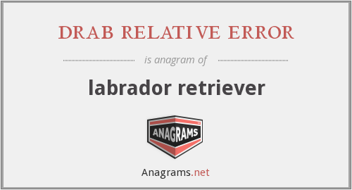 drab relative error - labrador retriever