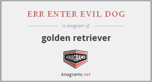 err enter evil dog - golden retriever