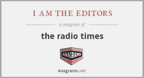 i am the editors - the radio times