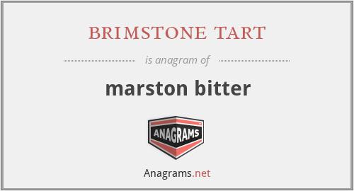 brimstone tart - marston bitter