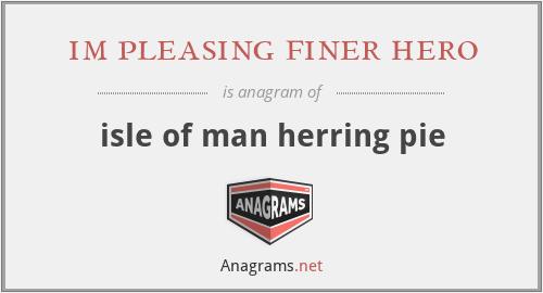 im pleasing finer hero - isle of man herring pie