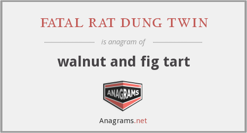 fatal rat dung twin - walnut and fig tart