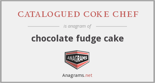 catalogued coke chef - chocolate fudge cake