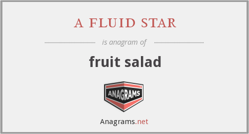 a fluid star - fruit salad