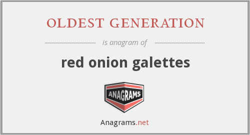 oldest generation - red onion galettes