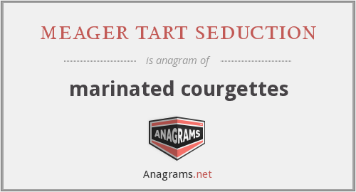 meager tart seduction - marinated courgettes