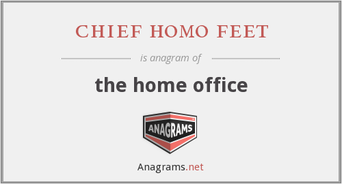 chief homo feet - the home office