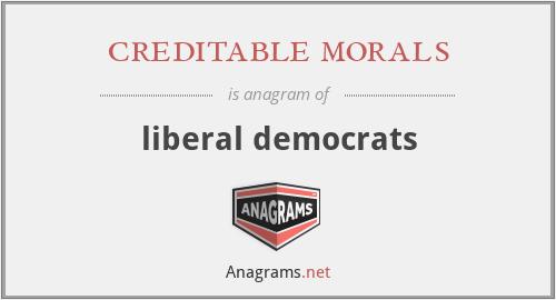 creditable morals - liberal democrats