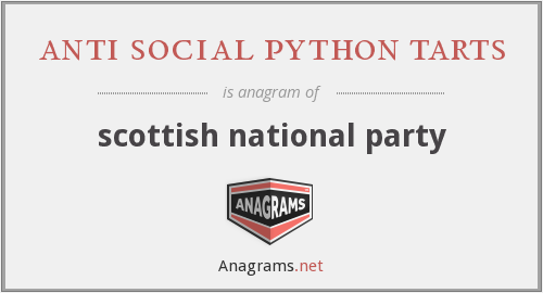 anti social python tarts - scottish national party