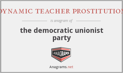 dynamic teacher prostitution - the democratic unionist party